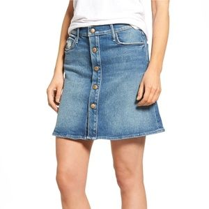 Mother The Snap Down Mini flare Skirt High waisted